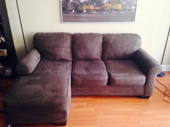 Example of a 2 piece sectional - Upholstery Cleaning